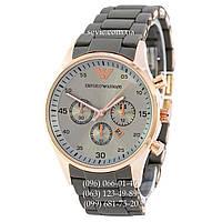 Наручные часы Emporio Armani Silicone Gold-Grey