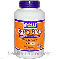 Кошачий коготь, витамины для репродуктивной системы, Now Foods, 500 мг, 250 капсул