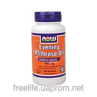Масло примулы, для репродуктивной системы, Now Foods 500 mg 100 капсул