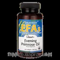 Масло примулы вечерней 500 мг 100 капсул Swanson