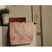 Полотенце ARYA Gonca махровое вышивка 2 шт. розовый