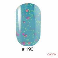 Гель-лак Naomi 6 мл Candy Bar 190 мятно-бирюзовая карамель с конфетти