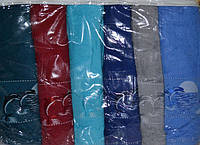 Комплект банных махровых полотенец Gulcan Dolphins Хлопок 70x140 см (6шт.)