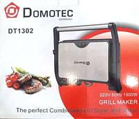Настольный электрогриль DOMOTEC DT-1302, антипригарное покрытие, поддон для жира, 1500Вт, индикаторы