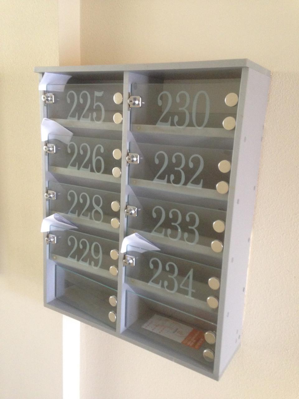 Почтовые ящики из ДСП и стекла., фото 1
