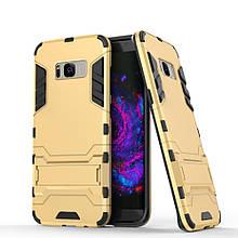 Чехол накладка силиконовый Armor Shield для Samsung S8 Plus G955 золотой