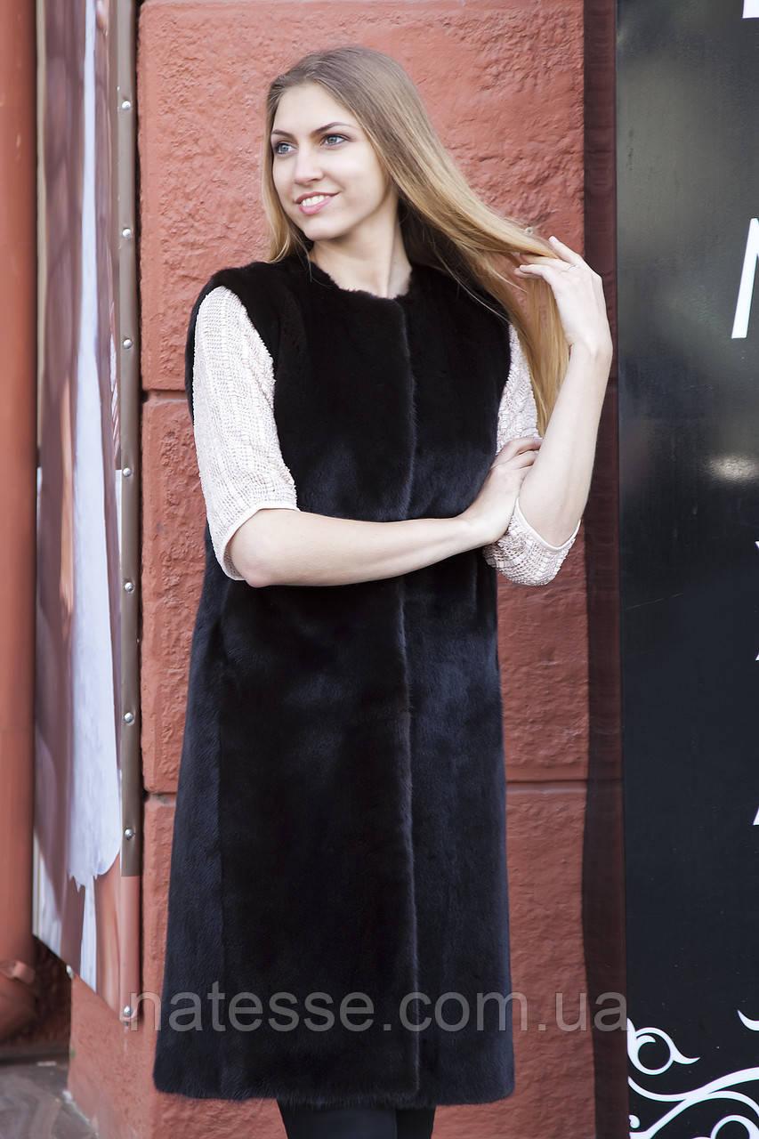 "Жилет з норки BlackNafa ""Лючія"" real mink fur vest gilet"