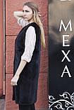 """Жилет з норки BlackNafa """"Лючія"""" real mink fur vest gilet, фото 3"""