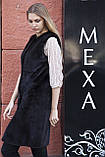 """Жилет из норки BlackNafa """"Лючия"""" real mink fur vest gilet, фото 4"""