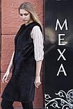"""Жилет з норки BlackNafa """"Лючія"""" real mink fur vest gilet, фото 4"""