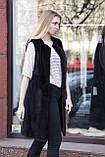 """Жилет з норки BlackNafa """"Лючія"""" real mink fur vest gilet, фото 6"""