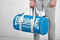 Сумка Lonsdale Barrel Bag синяя белый лого /  Lonsdale Barrel Bag /
