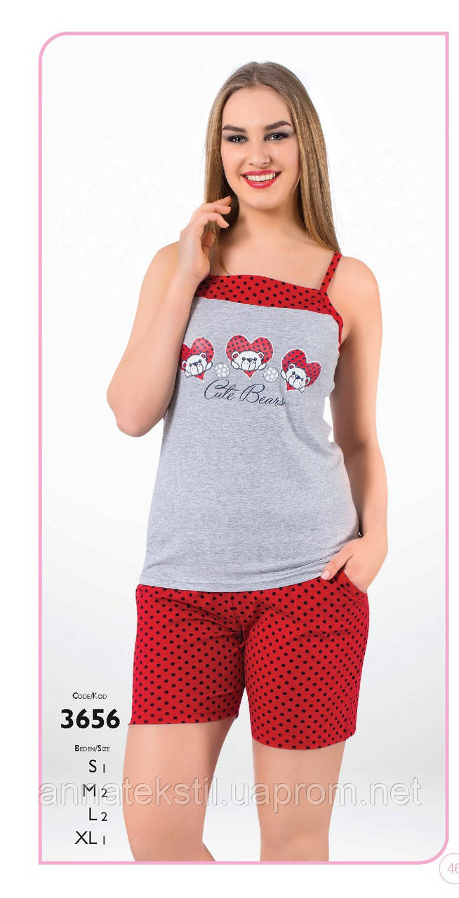 Пижама-шорты женская Fawn арт:3656