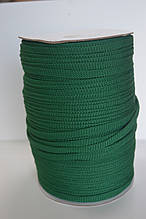 Шнур плоский зелений