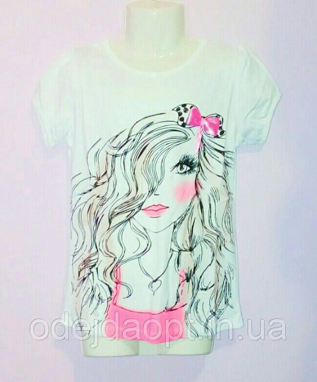 Подростковая футболка  для девочки 13,14,15 лет