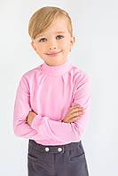 Утепленный гольф для девочки на кнопках, нарядный розовый гольф для девочки