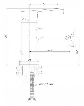 LASKA cмеситель для раковины, черный, 35 мм, фото 2