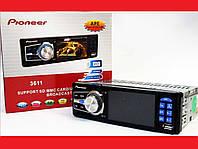 "Автомагнитола Pioneer 3611 Blue - 3,6"" TFT Video экран -Divx/mp4/mp3 USB+SD, фото 1"