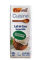 Сливки кокосовые органические растительные ТМ EcoMil