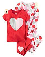 Пижама детская для девочки Carter's США, (размер: 2Т;3T;4T;5Т;6;7;8;10;12):