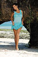 Однотонное полупрозрачное пляжное платье