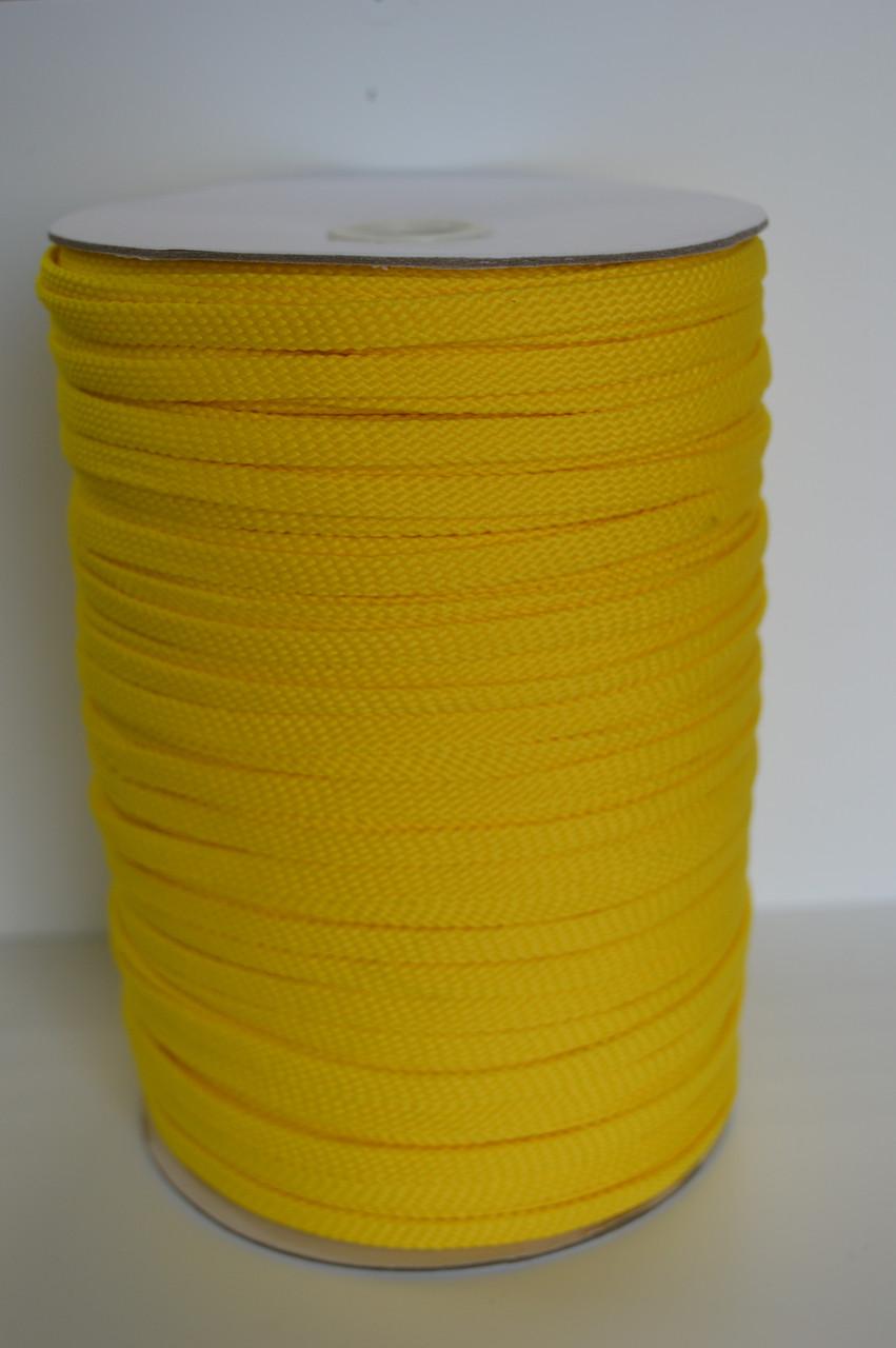 Шнур плоский желтый