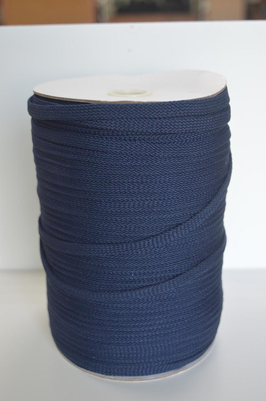 Шнур плоский синий