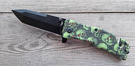 Нож складной Tanto Skull, полуавтомат, стильный , фото 1
