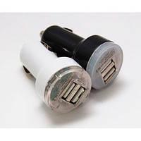 Автомобильная зарядка USB от прикуривателя Dynamode white (белый)