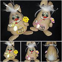 """Пасхальное яйцо - кролик """"На щастя, здоровья"""" 19-20 см (ручная работа),90/105 за 1шт. +15 гр"""