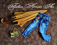 Красивые джинсы на девочку со стразами 1-7 лет