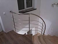 Ограждение винтовой лестницы из нержавейки