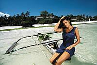 Однотонное полупрозрачное пляжное платье COSMO(1), S