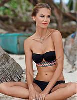 Оригинальный купальник полукорсет орнамент push up для стильной девушки. Отличное качество. Дешево. Код: КГ743