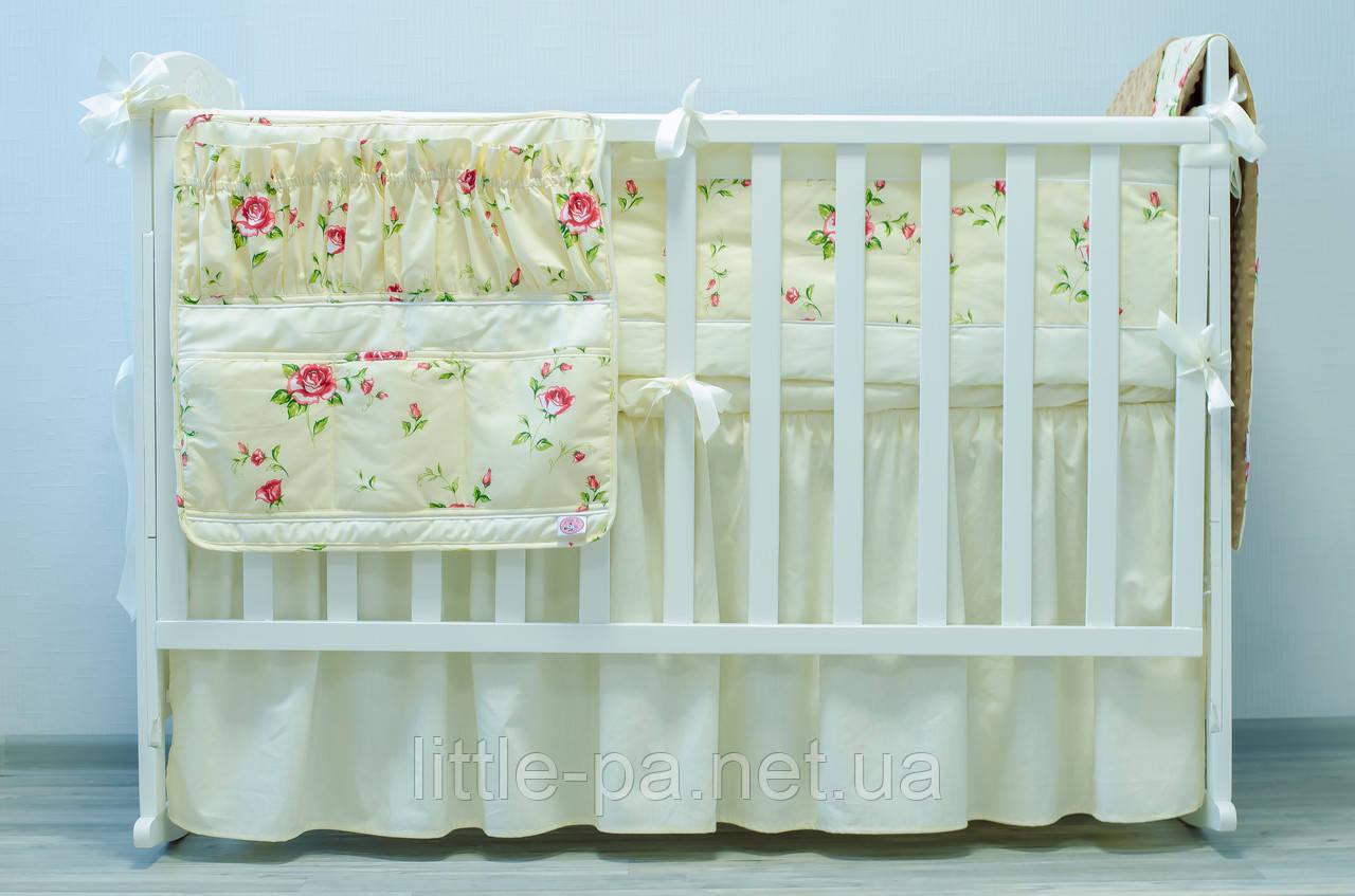 Хлопковое детское постельное «Розочки» (120х60)