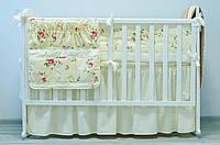Хлопковое детское постельное «Розочки» (120х60), фото 1