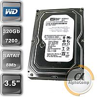 """Жесткий диск 3.5"""" 320Gb WD WD3200AAKS (7200/8Mb/SATAII) БУ"""