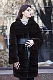 """Шуба з норки Nafa кольору """"Гіркий шоколад"""" Real mink fur coats jackets, фото 2"""