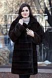 """Шуба з норки Nafa кольору """"Гіркий шоколад"""" Real mink fur coats jackets, фото 4"""