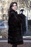 """Шуба з норки Nafa кольору """"Гіркий шоколад"""" Real mink fur coats jackets, фото 5"""