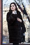 """Шуба з норки Nafa кольору """"Гіркий шоколад"""" Real mink fur coats jackets, фото 6"""