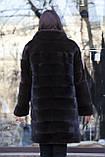 """Шуба з норки Nafa кольору """"Гіркий шоколад"""" Real mink fur coats jackets, фото 7"""