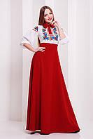 Платье в украинском стиле креп-шифон размер 44,46-48
