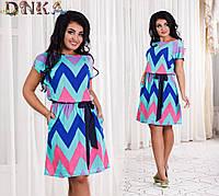 Женское летнее платье №с453-12 есть большие размеры