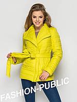 Весенняя женская куртка с поясом