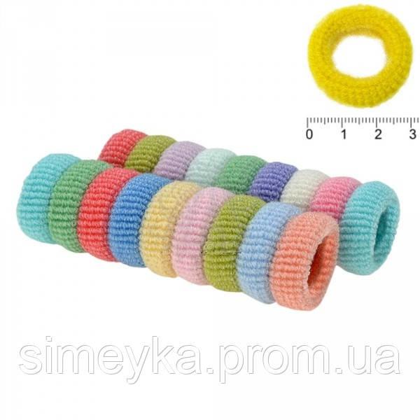 Резинка для волос средняя толстая в пастельных тонах, диаметр 2,7 см, упаковка 80 шт., пр-во Калуш
