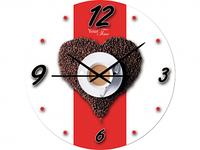 Часы настен. серия Кухня Утренний кофе стекло/кругл. 28см