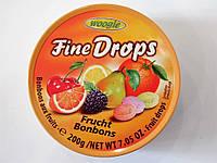 Конфеты Fine Drops Frucht фруктовые 200 г, фото 1