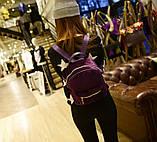 Рюкзак женский бархатный (фиолетовый), фото 4