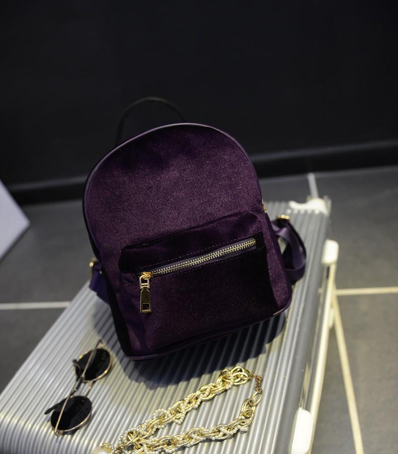Рюкзак женский бархатный (фиолетовый)